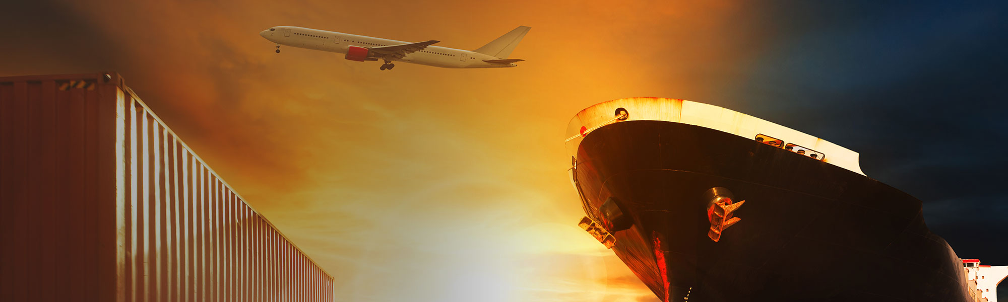 Shipping container, airplane, and boat